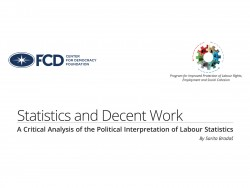 Statistics and Decent Work