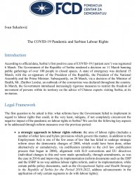 The COVID-19 Pandemic and Serbian Labour Rights