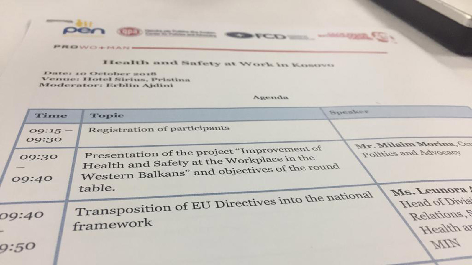Towards Improved Health and Safety at Work in the Western Balkans